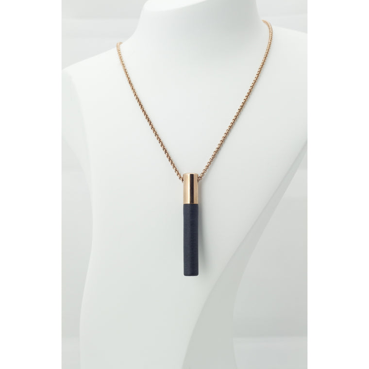 Lockstone Plus Rose Gold Pendant & Three Black Stones - Tittup Unique Aromatherapy & Jewellery