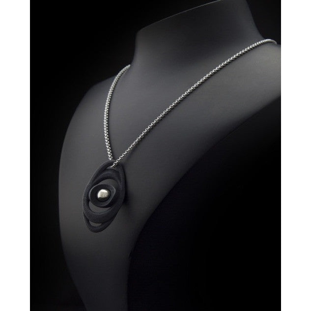 Saturn Pendant With Stainless Steel Necklace