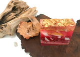 Golden Sakura Crystal Crystal Polished Agate Square Soap