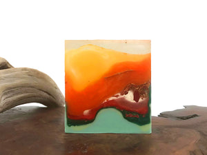 Mango Crystal Crystal Polished Agate Square Soap