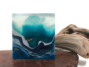 Mermaid Lagoon Crystal Polished Agate Square Soap