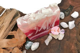 Dark Rose Polished Agate Crystal Square Soap