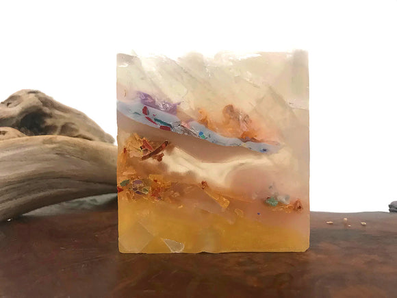Jupiter Crystal Polished Agate Square Soap