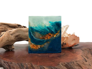 Topaz Blue Polished Agate Square Soap