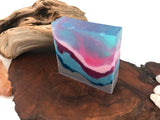 Cotton Candy Crystal Polished Agate Square Soap