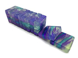 Fluorite Crystal Polished Agate Square Soap