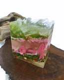 Strawbery Cake Crystal Polished Agate Square Soap