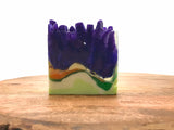 Ultraviolet Crystal Crystal Polished Agate Square Soap