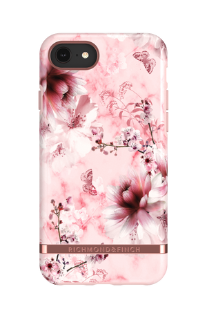 Richmond & Finch Case Pink Marble Floral + Matching PopGrip, PopSockets