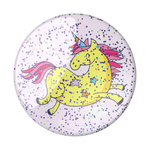 Glitter Jumping Unicorn Yellow, PopSockets