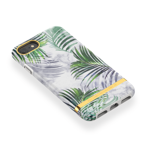 Richmond & Finch Case White Marble Tropics + Matching PopGrip, PopSockets