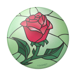 Beauty and the Beast Stained Glass Rose, PopSockets