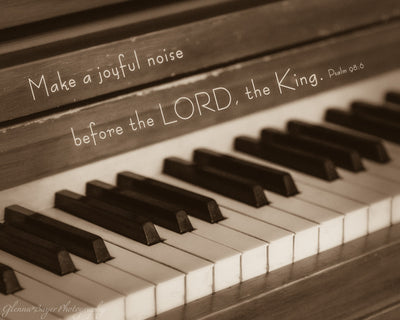 piano keys with scripture verse