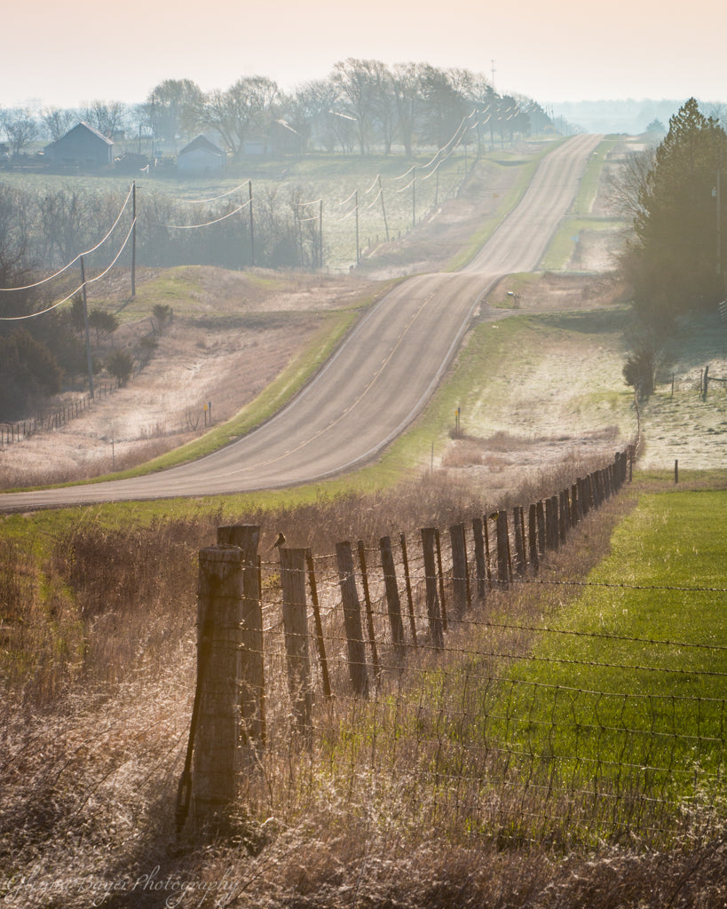 Kansas Road and Fence (0327)