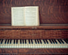 Kansas Piano, Song Book, Brown, Wood, White, Still life