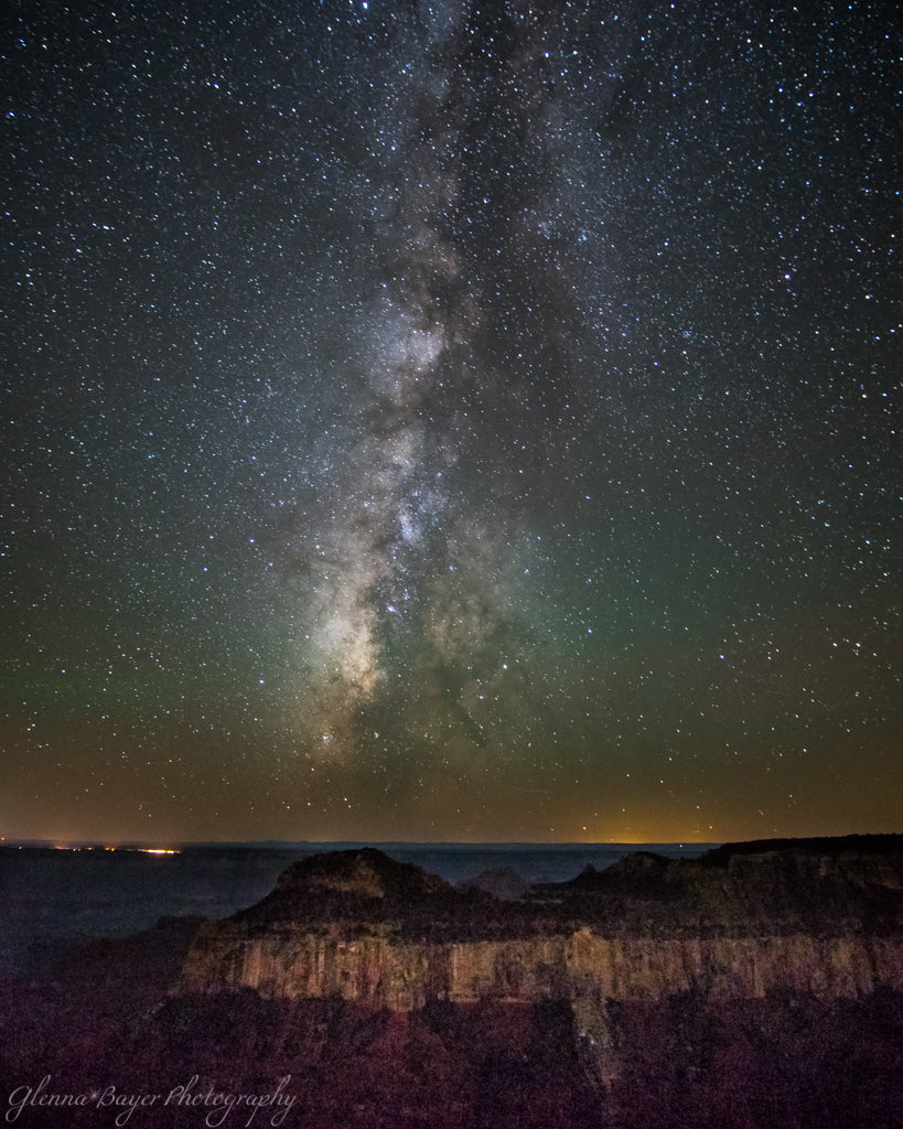 The Milky Way over the Grand Canyon