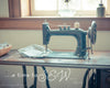 Carriag Hill Vintage Sewing Machine, Bible Verse