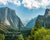 Yosemite Valley in summer with scripture verse