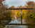 Bridge over Stillwater River in Ohio on fall day with scripture verse