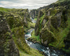 Fjaðrárgljúfur Canyon, Iceland, Green, River, Rocks