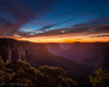 Blue Mountains Australia Sunrise, Orange, Blue, Morning