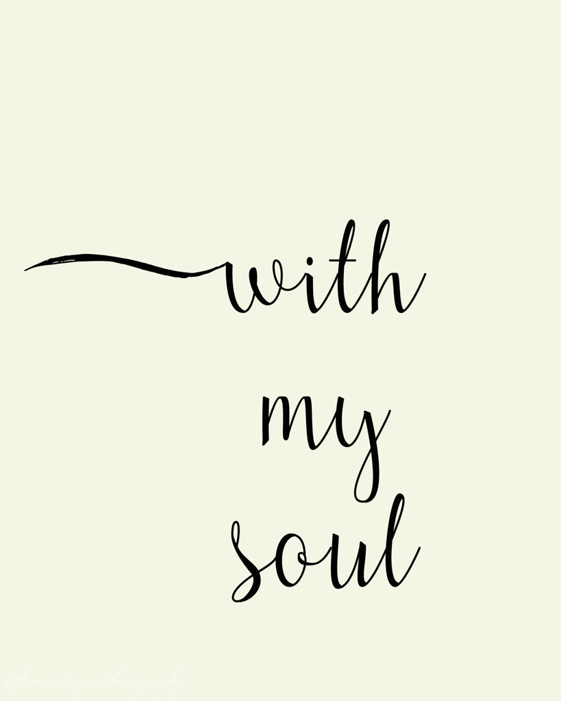 With My Soul Word Art (0429-1)