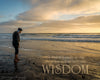 Old man standing next to the sea, San Diego, Sunset, Wisdom, Scripture Verse