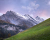 Swiss Alps, Gimmelwald, Pink, Purple, Green, Mountains