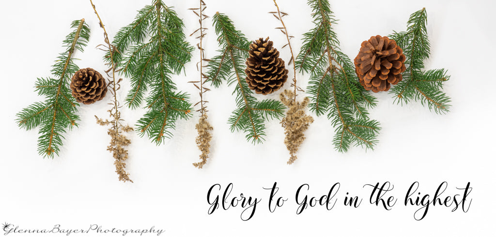 Winter greenery with scripture verse