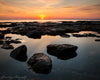 Jervis Bay Sunrise Australia Rocks Water Orange Dawn Reflection