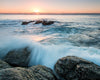 Jervis Bay Sunrise Australia Rocks Water Orange Dawn Blue Wave Crashing
