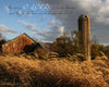 Barn and Silo in Evening, Wheat, Old, Farm, Bible Verse, Inspirational, Fall, Seasons