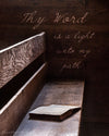 Bible on Bench, Wood, Brown, Bible Verse