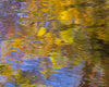 Blackwater River Fall Abstract Ripples Water Blue Green Yellow