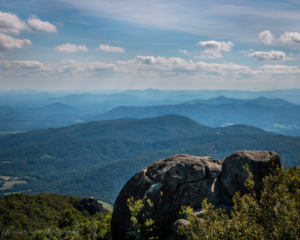 Blue Ridge Mountains landscape from Peaks of Otter