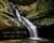 Cedar Falls in Spring at Hocking Hills, Ohio with scripture verse