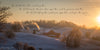 Cozy Sunday Morning, Winter, Snow, Sunrise, Farm, Bible Verse
