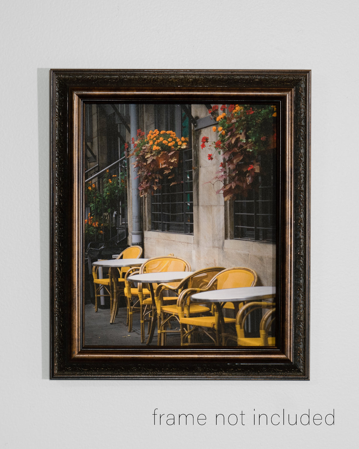 framed print of Yellow Chairs on a Germany Street