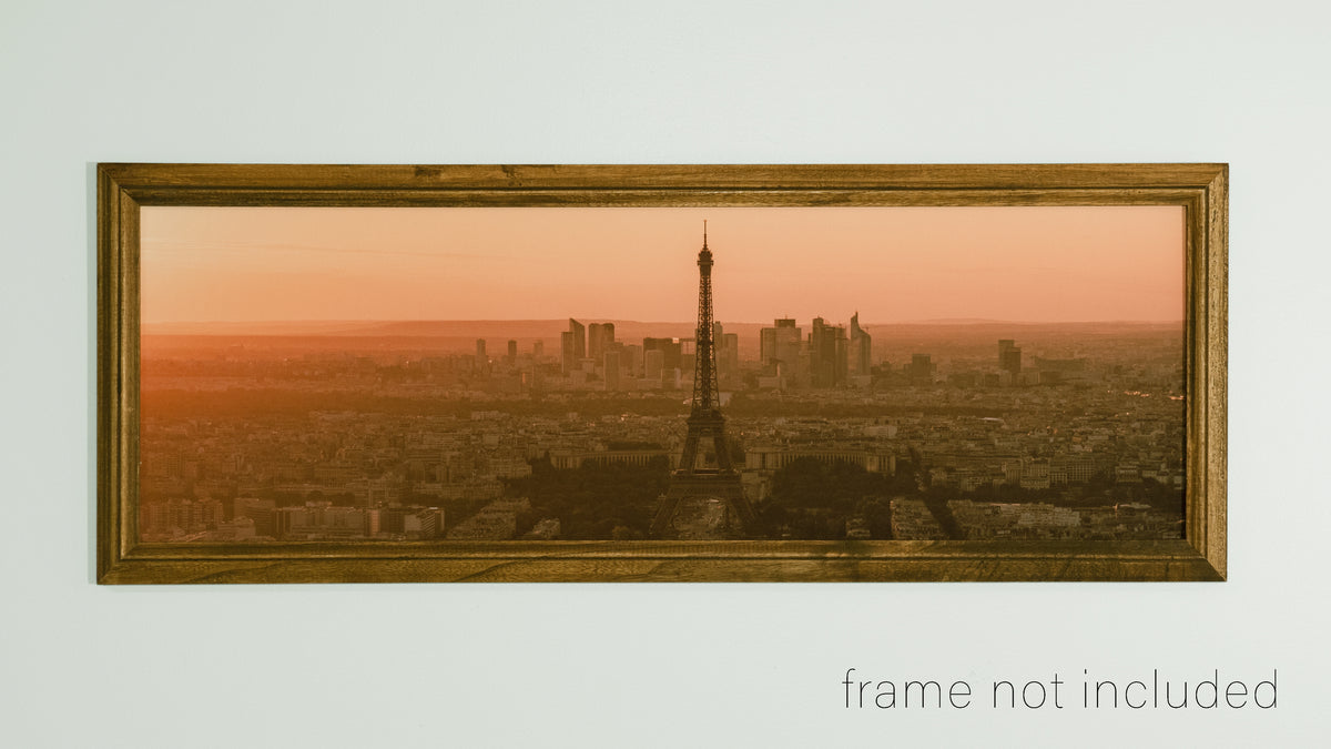 framed print of Paris Panorama during orange sunset