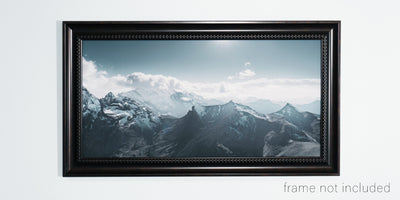 framed print of Panorama of Swiss alps at Schilthorn