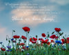 Enon Poppy Field, Bible Verse, Blue, Green, Red, Flowers, Summer