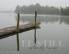 Foggy Dock at Watts Bar, Lake, Gray, Bible Verse