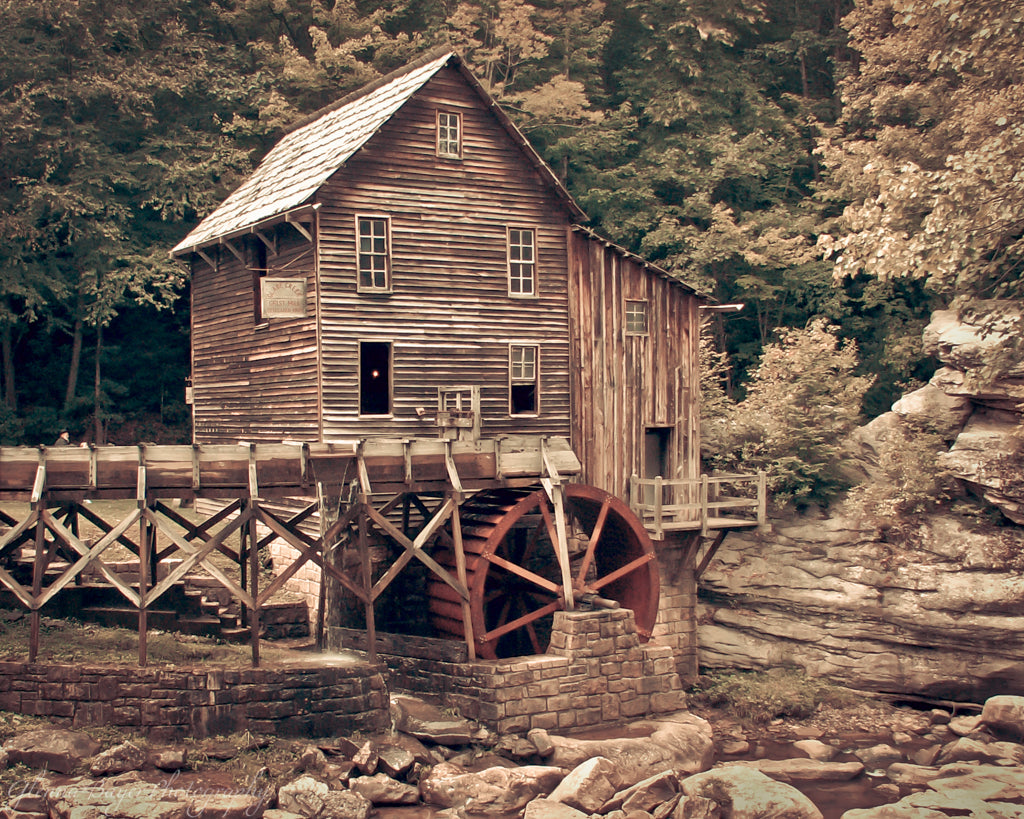 Glade Creek Mill in autumn at Babcock State Park, West Virginia