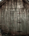 Smokehouse door, Old, Wood, Bible Verse