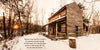 Iddings House in Winter, Wood, Snow, Quote