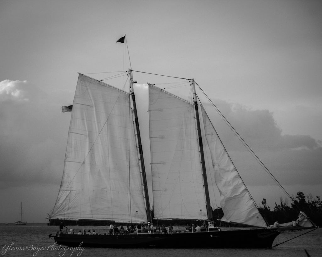 A schooner sailing in Key West, Florida
