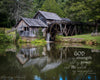 Mabry Mill in Summer, Green, Old, Pond, Reflection, Bible Verse, Inspirational, Virginia