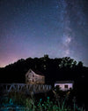 Milky Way above the Piedmont Mill, Purple, Blue, Stars