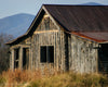 Rustic VA landscape, Old Barn, Fall, Evening