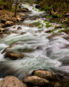 Smoky Mountain Stream, Water, Rocks, Bible Verse